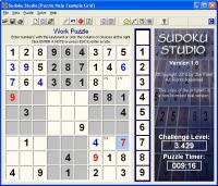 Sudoku Studio 1.6 screenshot. Click to enlarge!