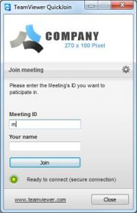 TeamViewer QuickJoin 12.0.78716 screenshot. Click to enlarge!