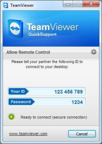 TeamViewer QuickSupport 12.0.78313 screenshot. Click to enlarge!