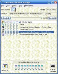 Transparent Window Manager 3.3 screenshot. Click to enlarge!