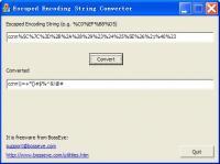 URL Escaped Encoding Decoder 1.0 screenshot. Click to enlarge!