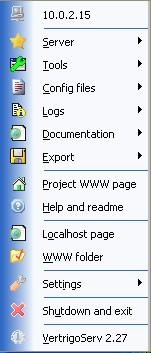 VertrigoServ 2.45 screenshot. Click to enlarge!