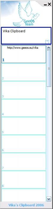 Vika Clipboard 1.0.51.0 screenshot. Click to enlarge!