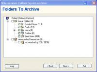WheresJames Outlook Express Archiver 1.34 screenshot. Click to enlarge!