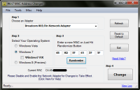 Win7 MAC Address Changer 1.9.5 screenshot. Click to enlarge!