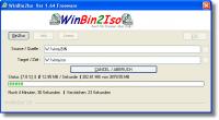 WinBin2Iso 2.92.001 screenshot. Click to enlarge!