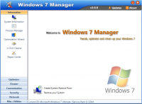 Windows 7 Manager 5.1.9 screenshot. Click to enlarge!