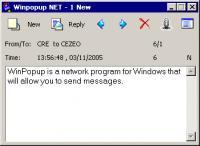 Winpopup NET messenger 1.2 screenshot. Click to enlarge!