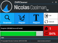 ZHPCleaner 2017.6.29.107 screenshot. Click to enlarge!