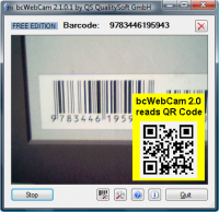 bcWebCam Read Barcode with Web Cam 2.1.0.3 screenshot. Click to enlarge!