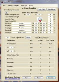 eJuice Me Up 15.6.1.0 screenshot. Click to enlarge!