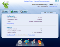 eScan Anti-Virus 14.0.1400.1849 screenshot. Click to enlarge!