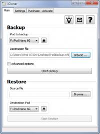 iCloner 2.49 screenshot. Click to enlarge!